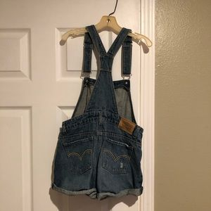 Girls size 12 Levi distressed overall shorts